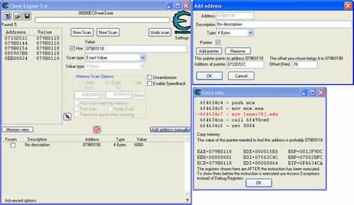 Imagen Cheat engine