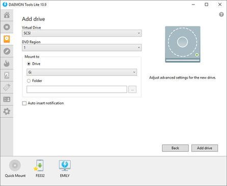 Imagen Daemons tools