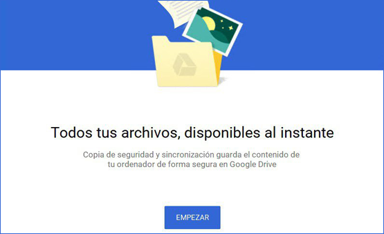 Imagen Google Backup and Sync